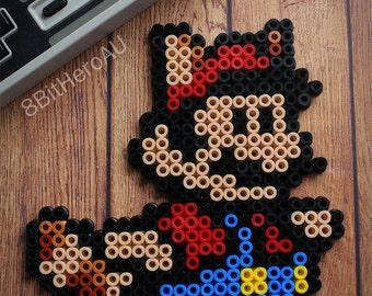 Super Mario Bros - Tanooki Mario (Flying) - Fuse Bead Creation