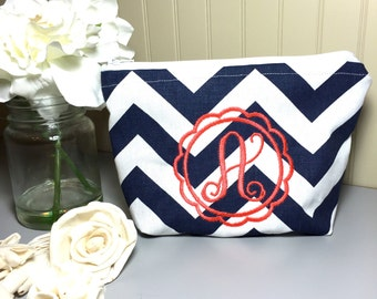 Monogram, personalized, makeup bag, wedding, customized ,Cosmetic bag, bridal gift, gadget pouch,multipurpose bridal party gift