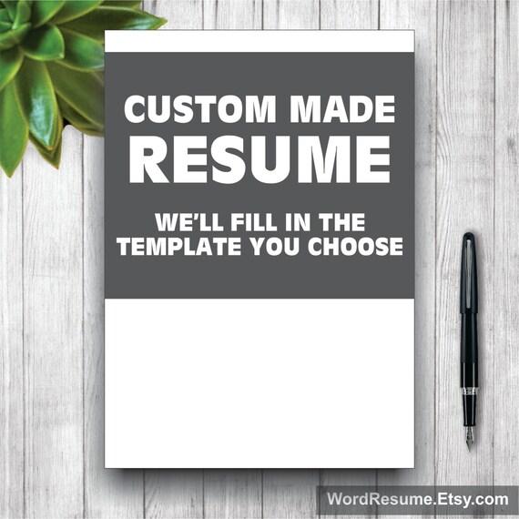 custom made resume template custom made cover letter