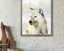 Wolf Print, Wolf wall art, Wildlife Animal Print, Wolf artwork, Wildlife Nursery Decor, Illustration Print, wall art, Nursery animal print