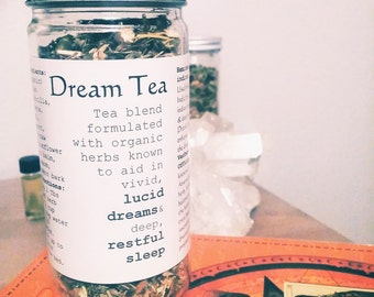 Lucid Dream Tea, Lucid Dream Herbs, Dream Inducing Tea, Dream Divination, Lucid Dream herbs, Dream Herb, Chai Tea