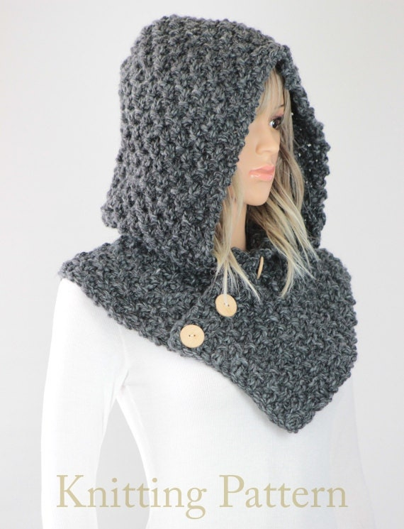 Hooded Circle Scarf Knitting Pattern : Hooded Cowl Pattern #25 - Knit Oslo Cowl Pattern ...
