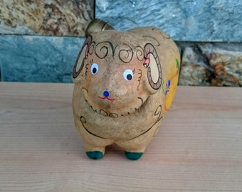 Vintage Ram Papermache with moving head