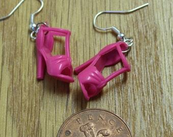 Barbie Doll Shoe earrings, Unique, Retro 90's, Super Cute!