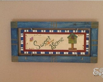 Photo frame Keychain Country style.