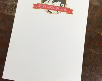 Rocky Mountain Style Notepad