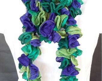 Crocheted Ruffle Scarf - Item JB111