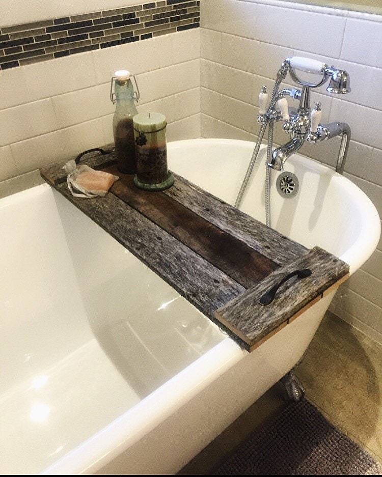 reclaimed wood bath caddy christmas gift by