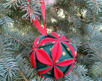 Christmas ornaments Christmas tree decorations Christmas balls Baby Christmas gift Holiday decor New year gifts Fabric balls textile decor