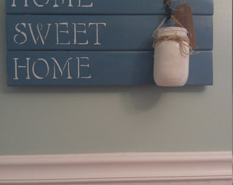 Home Sweet Home Door Sign/ Wall Decor/ Porch Decor/ Door Sign