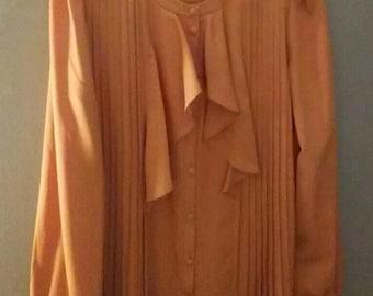 Tan Cremieux button down blouse