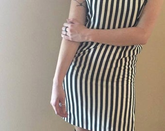Vintage 90s Striped Beetlejuice Dress