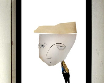 Joel Wonders, Art & Collectibles, Drawing and Illustration, Collage, Wall Art Print, 8x10 print, 11x14 print, 12x18 print, Upcycled, Prints