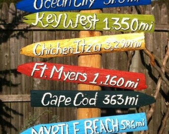 Reclaimed Wood Travel Signs