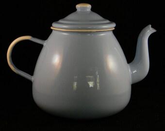 Emalia Olkusz Baby Blue Teapot