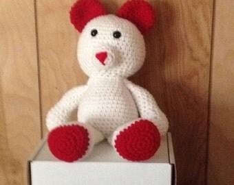 Crocheted Valentine Bear
