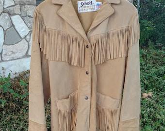 Vintage Schott Leather Fringe Jacket