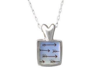 Loved Necklace - Sterling Arrow Necklace - Love Gift