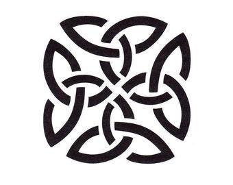 Celtic Knot Stencil, Irish Stencil, Mylar Stencil, Traditional Celtic Art, Painting Stencil, pochoir, art stencil, Scottish, art journal