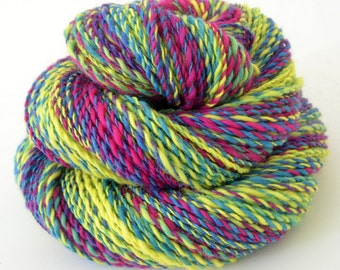 Handspun Yarn -  Spindle Spun Merino Yarn - Art Yarn- 1.75oz, 180yd, 17WPI