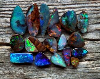 Custom Australian boulder opal ring / opal ring / custom opal ring / October birthstone ring / choose your opal ring / opal jewelry