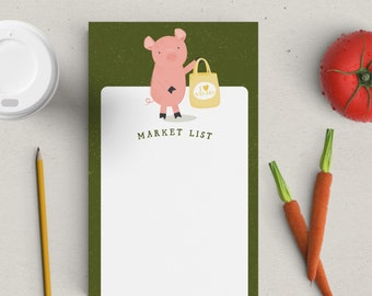 Clearance | This Little Piggy Shopping List Notepad | To Do List | Market List | 25 Sheets