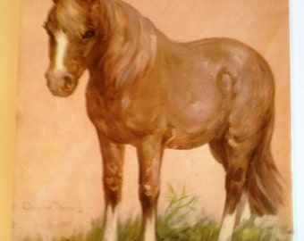 HORSE Illustration by Diana Thorne 1930's Children's Book Print to Frame Wall Art Home Decor 10 x 12