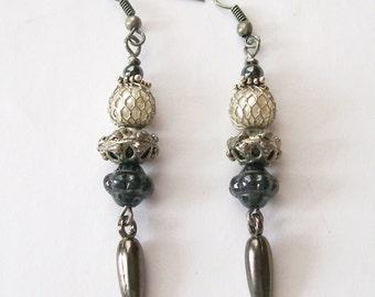 RENAISSANCE GIRL - Linear Dangle Earrings Fantasy Medieval Goth Jewelry