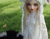 Minifee Dress - Mori Stlye - 4 Colors Black/Pink/Blue/Cream - BJD Clothes - MNF - Ball Jointed Doll Outfit - Dark Mori - Abjd