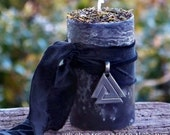 ODIN Ruler of Asgard Pillar Blót Candle w/ Valknut for Norse Shamanism, Rituals Involving Wisdom, Rune Sorcery, Binding & Unbinding, Victory