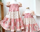 Matching Sister Dresses Matching Sibling Outfit Big Sister Little Sister Outfit Infant 3 months-Girls Size 10 Matching Floral Summer Dresses