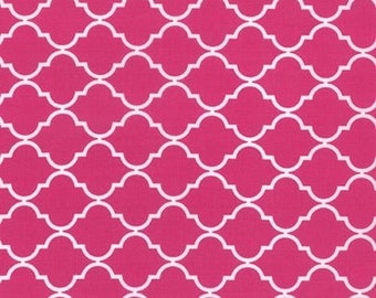Nap Mat - Monogrammed Berrylicious Pink Quatrefoil Nap Mat with a Minky Dot Blanket - You Choose the Blanket Color