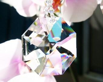 Swarovski Crystal Suncatcher Chakra Crystals Sun Catcher Hanging Crystal Prism Suncatcher