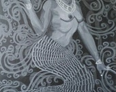 "12"" × 18"" Mermaid: Yemonja"