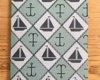 A5 Notebook - Boats and Anchors