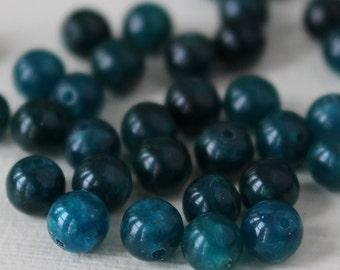 6mm Round Apatite Beads - Round Gemstone Mala Bead - Jewelry Making Supplies - Choose Length