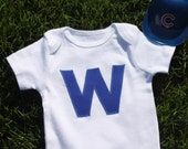 """Chicago Cubs """"W"""" bodysuit or shirt"""