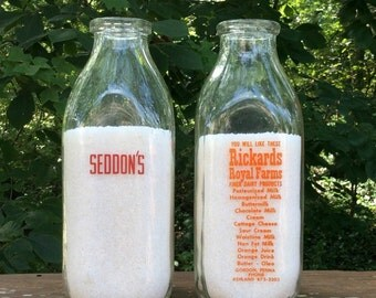 Seddons Quart Milk Bottle Glass Vintage Dairy Pennsylvania