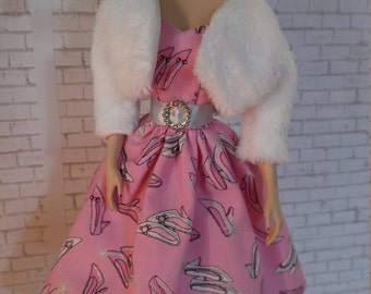 Handmade OOAK Dress and Jacket for Barbie Doll
