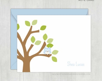 Personalized Thank You Cards • In the Treetop {FOLDED} • 10 Note Cards with Envelopes • Personalized Stationery/Stationary • Thank You Notes