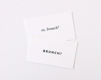 Brunch Date Cards - Set of 30