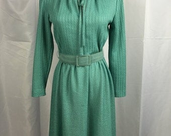 Vintage VP's by Verona Aqua-Marine Dress with Belt
