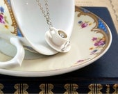 Coffee Cup Necklace, Coffee Lovers Gift, Coffee Jewellery