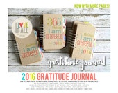 Gratitude Journal . 365 Things I Am Grateful For . Smash Book Junk Journal Devotional Daily Document Thankful Blessings Daybook Book Diary