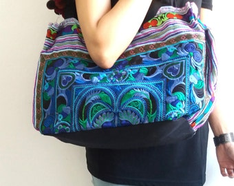 Hmong Old Vintage Style Ethnic Thai Boho Shoulder Bag