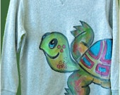 Turtle Wrap Long-sleeved T-shirt or Sweatshirt for kids and adults