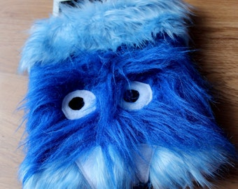 Furry Blue Monster iPad/ Tablet Cover Case