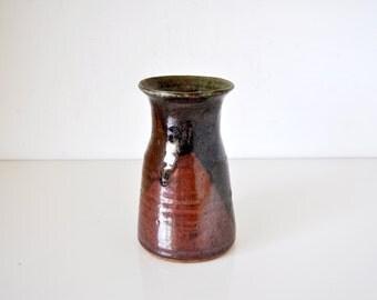 Vintage Terracotta Drip Glaze Vase