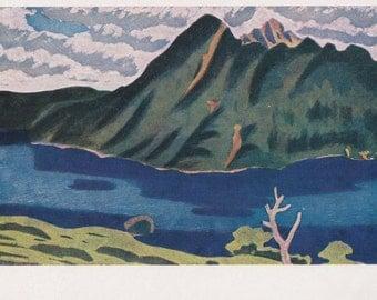 """M. Asado """"Lake"""" Postcard -- 1963"""
