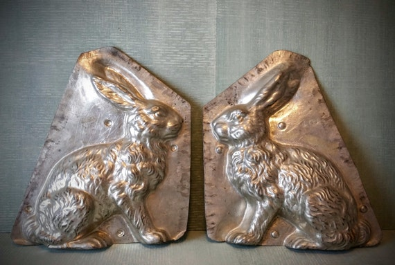 Antique Bunny Rabbit Chocolate Mold